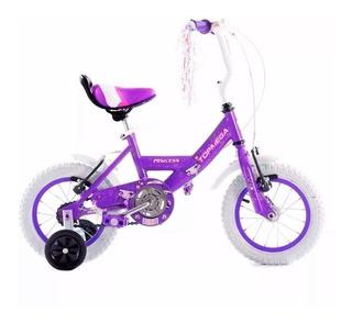 Bicicleta Cross Topmega Princess R12 Nena Con Rueditas