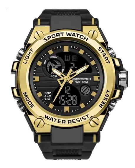 Relógi Masculino Sanda 739 Militar Prova D