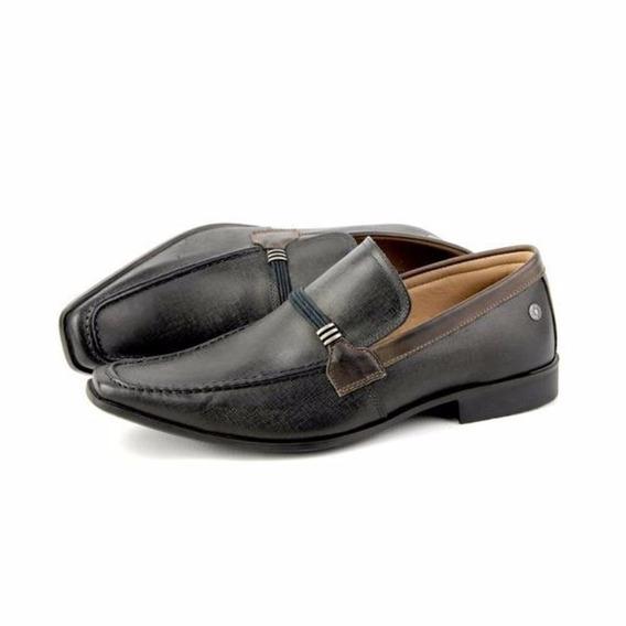 Sapato Social Masculino Casual Jeans Preto Couro Legitimo