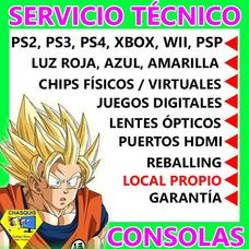 Servicio Técnico Consolas Ps2/ps3/ps4/xbox/psp/chips/juegos