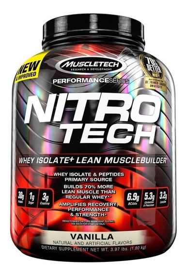Proteina Whey Nitro Tech 3.97 Lb Muscletech Potenciada