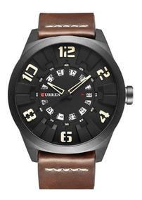 Relógio Masculino Curren Esportivo 8258 Pulseira Couro