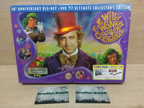 Willie Wonka Fabrica De Chocolates Blu Ray Película Box Set