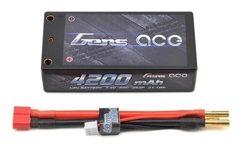 Bateria Lipo Gens 2s 2p 7.4v 4200mah 60c 31,1wh Conector T