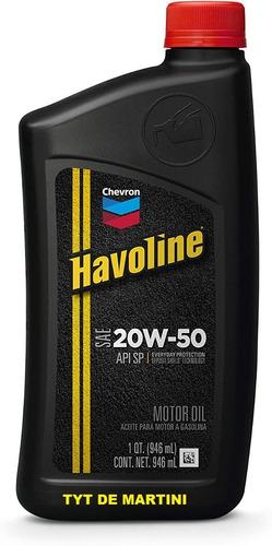 Aceite Havoline 20w50 Usa Chevron Lubricante Oferta - Tyt