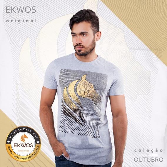 Camiseta Ekwos Mesclada Tam M 100%