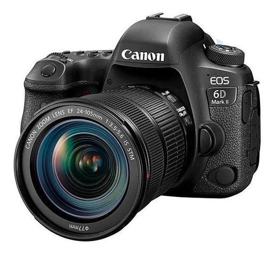Câmera Dslr Canon Eos 6d Mark Ii 26.2mp 3.0 Wi-fi/bluetooth