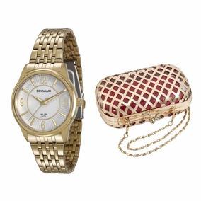 Relógio Seculus Kit Feminino Dourado - 23444lpsvda1k1