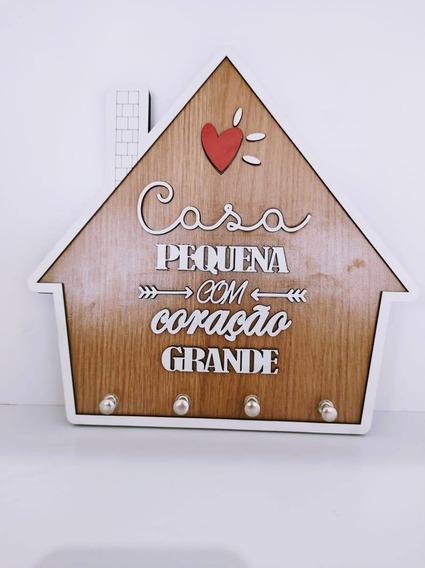 Porta Chaves Casa Personalizado P Mdf