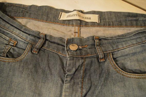 Pantalon Materia Jeans Tiro Alto