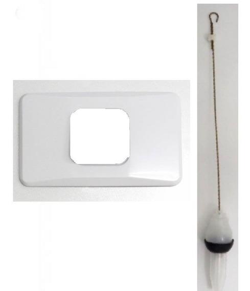 Kit Reparo Espelho Branco + Obturador Caixa Montana Descarga