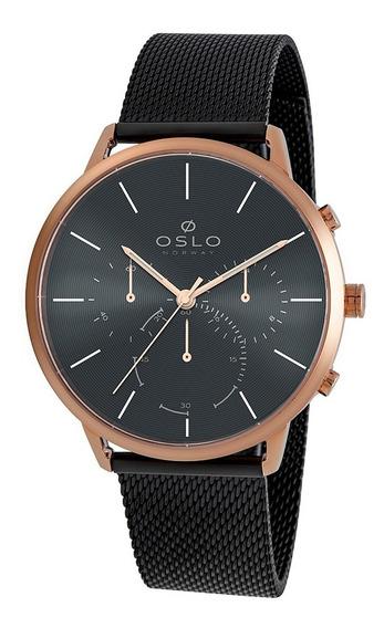 Relógio Oslo Omtsscvd0009 + Garantia De 1 Ano + Nf