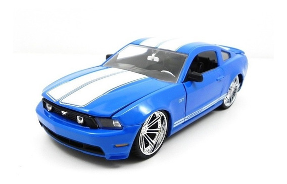 Miniatura Ford Mustang Gt 2010 Azul Jada Toys 1/24