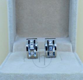 2a9fbecdf29b Aretes Huggies Titanio 18k Zirconias Corte Diamante