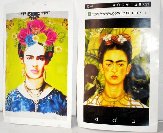 Auto Retrato Frida Kahlo, 2 Carteles Viejos Kahlo Frida 2000