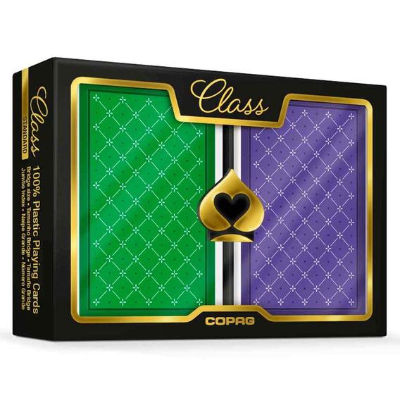 Baralho Class Standard Copag Estojo Duplo Naipe Grande Poker