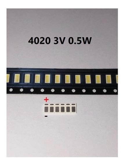 Led Smd 4020 3v 0.5w Tv Panasonic Tc40c400b - 50pcs