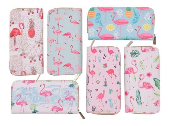 Billetera Monedero Mujer Tarjetas Cisne Con Cierre Diseño