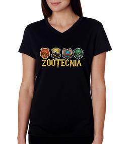 Camiseta Baby Look Preta Faculdade Zootecnia Harry Potter 8