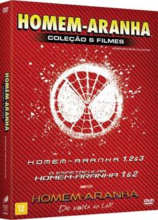 Dvd Homem Aranha - Coleção 6 Filmes - 6 Discos
