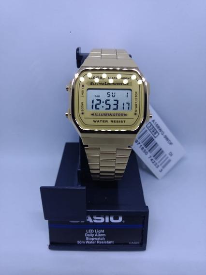 Relógio Retrô Vintage Modelo 168wg-9wdf