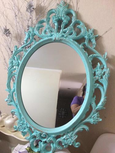Espejo Decorativo Verde Agua 76 Ctms Alto 47.ancho Nuevo