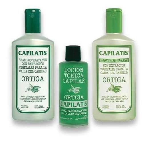 Capilatis Ortiga Set Shampoo + Enjuague + Locion Para Caída