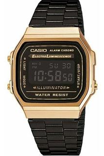 Casio Vintage Retro A168wegb-1b Agente Oficial Caba