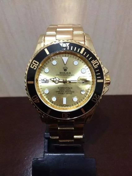 Relógio Sub Mariner Dourado E Preto Rolex