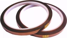 Fita Térmica Adesiva Kapton 3mmx33m + 6mmx33m (2 Unidades)