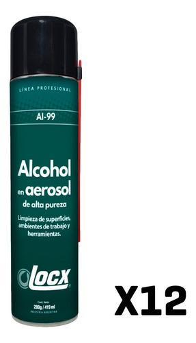 Alcohol Aerosol Etilico X 12 419ml Desinfectante Alta Pureza