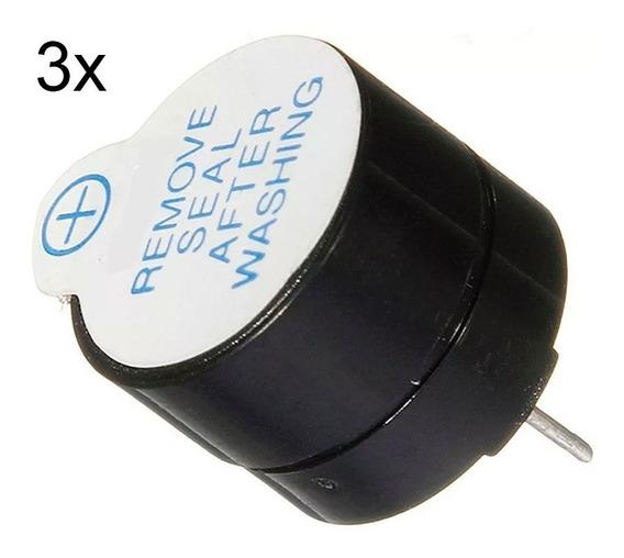 3 Buzzer 5v Ativo Sinal Sonoro Beep Arduino Pic Raspberry Pi
