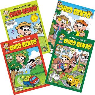 Kit 3 Hqs Gibi Almanaque Chico Bento Turma Da Mônica +brinde