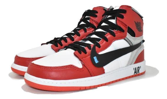 Tênis Air Jordan Off White Original Promoção Botinha + Frete