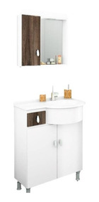 Gabinete / Armário P/ Banheiro Ks - Balcão+espe+cuba 65cm