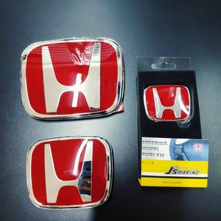 Set De Logos Honda Rojos Type R