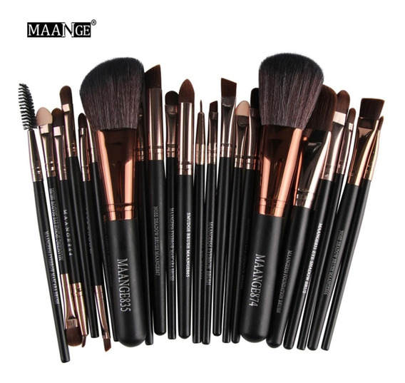 Pincel Para Maquiagem Kit 22 Peças Maange Profissional