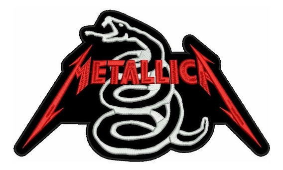 Patch Bordado Metallica Snake Termo Colante 11 Cm.