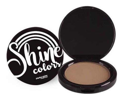 Imagem 1 de 1 de Pó Compacto Marrom Bronze Shine Colors Abelha Rainha 10g