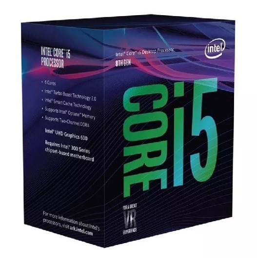 4372 Cpu Intel Core I5-8400 2.80ghz 9mb Lga1151 Com Cooler