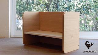 Banca-escritorio Montessori