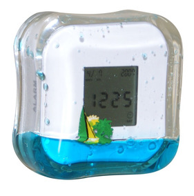 Relógio Digital De Bancada Em Acrílico Com Termômetro