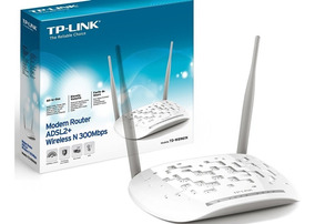 Modem Roteador Wireless Adsl2+ De 300mbps Td-8961n