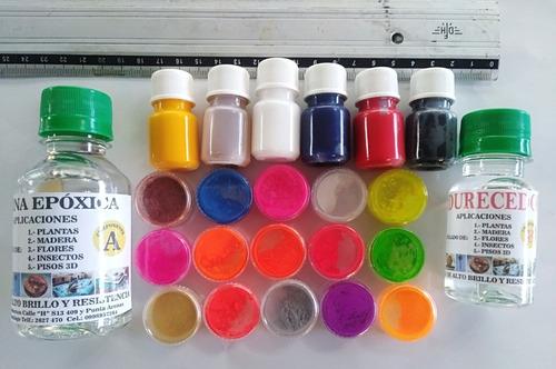 Cristal Liquido O Resina Epoxica Y Pigmentos En Polvo Neon