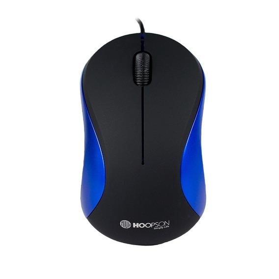Mouse Usb Óptico Hoopson Office Ms-034a Preto Azul