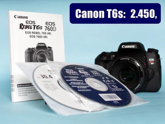 Canon T6s Novinha - Melhor Que T5i E T6i