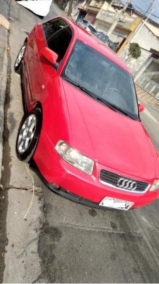 Audi A3 2003/03 1.8 Asp. Mec. Bco Couro Compl. Vendo/troco
