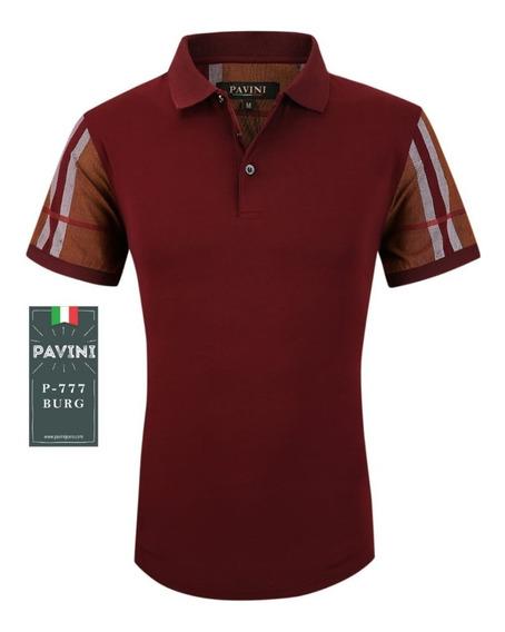 Playera Para Hombre Marca Pavini Vino P777 Original 1