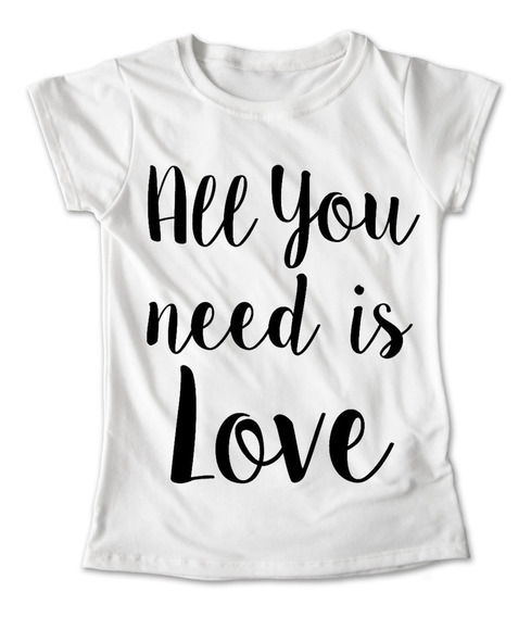 Blusa Beatles Colores Playera All You Need Is Love #150