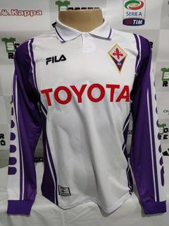 Camisa Fiorentina Away 1999-00 Batistuta 9 Manga L À P/ Ent